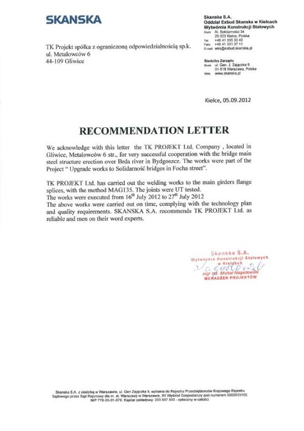 recommendation letters