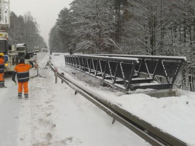 Bike bridges and balustrades in Brusy.